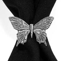 Swallowtail Butterfly Scarf Ring, English Pewter, Handmade in Great Britain (ab)