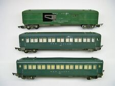 Set of 3 American Flyer Green New Haven Passenger Cars [Lot VV2-P23]