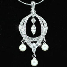 Pearl White Gold Plated Fashion Necklaces & Pendants