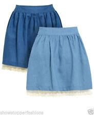 Gonne e minigonne da donna blu casual in cotone