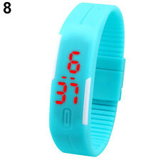 LED Men Women Striking Silicone Watch Sport Bracelet Touch Digital Wrist Watch