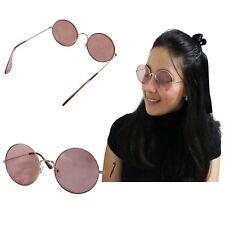 Gafas De Sol Redondas Mujer Rosa Dorada Lenon Espejo Metal Redondo Chica