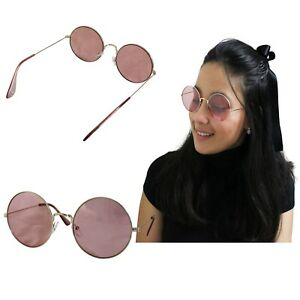 Sunglasses Round Woman Rosa Golden Lenon Mirror Metal Redondo Girl