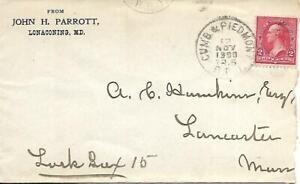 RPO Cover Cumberland & Piedmont #276-B-2 Nov 12 1900