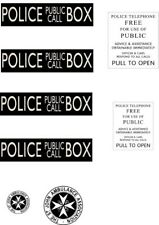 Dr Who Tardis Police Box Signs Icing Sheet Edible Cake Topper