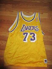 CHAMPION LOS ANGELES LAKERS DENNIS RODMAN #73 NBA JERSEY MEN'S size 48