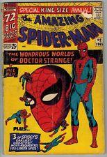 1960's AMAZING SPIDERMAN ANNUAL #2, 4, 6 DR STRANGE STEVE DITKO ART SINISTER SIX