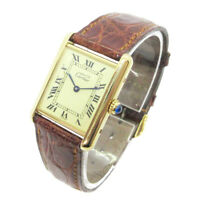 Cartier Must tank VERMEIL Quartz Wristwatch Watch SV925 106313 590005 NR15333