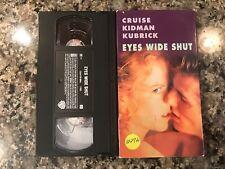 Eyes Wide Shut Vhs! 1999 Thriller! (See) Far And Away & Crash