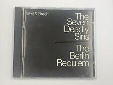 Weill & Brecht: The Seven Deadly Sins/Berlin Requiem CD PolyGram 1989 Gisela May