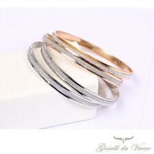 Bracciale Braccialetto Rigido Acciaio Donna Moda Idea Regalo Oro Moda argento