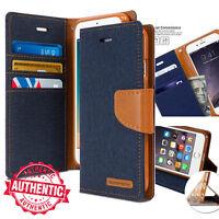 For iPhone 11 XR MAX 8+ 7 Case Slim Denim Canvas Flip Cover Wallet leather Case