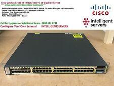 Cisco Catalsyt 3750E 48 10/100/1000 +2 10 Gigabit Ethernet - WS-C3750E-48TD-S