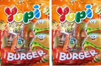 2 x Yupi Burger Jelly Gummy Mixed Fruit  Flavour Candy Candies Sweet 32 g.