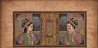 Mughal Miniature Portrait Painting Indian Islamic Handmade Ethnic Moghul Art