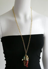 KALINKA Reclaimed Vintage Tribal Theme Boho Necklace with Charms
