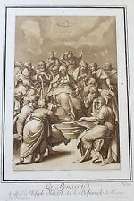 1780 Etching Aquatint after il Bastaruolo by Johann Prestel -  Colored Ink