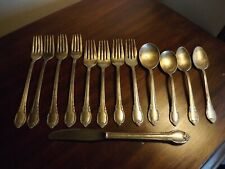 13 piece Vintage 1847 Rogers Bros Silver Plated Remembrance pattern flatware