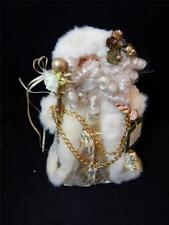 Stunning Ivory & Gold Accented Studio 33 Father Christmas Tree Topper Nwt