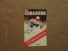 NHL Les Canadiens Vintage Circa 81-82 Hockey Logo Pocket Schedule