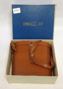 Vintage Binoculars In Tan Leather Case And Original Box #55798