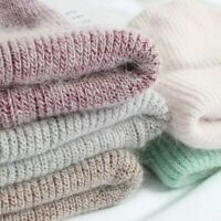 Women Men's Beanie Hat Soft Knit Cashmere Rabbit Fur Winter Warm Wool Cap