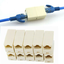 5PCS!1 to 2 LAN ethernet Network Cable RJ45 Splitter Plug Adapter Connector ba