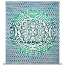 Indian Ombre Tapestry Cotton Wall Hangings Queen Handmade Bedspread Boho Decor