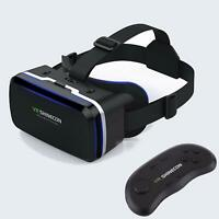 3D Virtual Reality Headset 360° VR Box GogglesWith Controller For iPhone Android