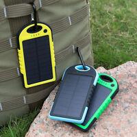 5000mah Solar Power Bank Portable External Battery Dual USB Phone Charger AU