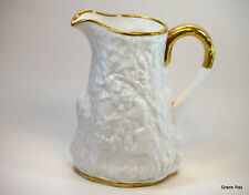 Royal Stafford England  Old English Oak White Gold Trimmed Pitcher 764261