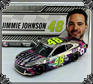 """2020 JIMMIE JOHNSON #48 ALLY FINANCIAL WHITE COLOR CHROME 1:24  """"228 MADE"""""""