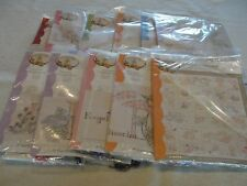 """A GARDENER'S ALPHABET Block of the Month Embroidery Quilt Kit Crabapple 58x71"""""""