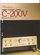 Accuphase c-200v prospetto Catalogo stereo-Control Center TOP!!!