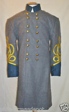 Confederate Officer Frock w/Blue Collar & Cuffs-34-52 - Civil War