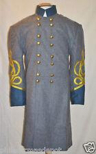 Confederate Officer Frock w/Blue Collar & Cuffs - Size 46 w/4-Gold Braid