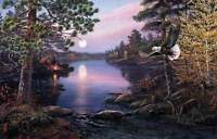 "James Meger "" Northern Twilight "" #1332/1700  Mint W/Cert Large 28 X 21 Numbered"
