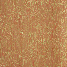 GOLD EMBOSSED FLORAL PATTERN WALLPAPER  10m Roll