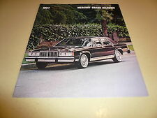 1984 Mercury Grand Marquis Sales Brochure - Vintage