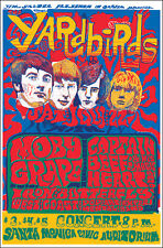 Yardbirds Jimmy Page 1967 Santa Monica Concert Poster