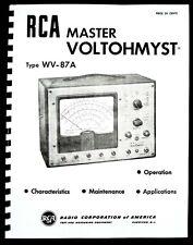 Rca Master Voltohmyst Wv 87a Wv87a Manual
