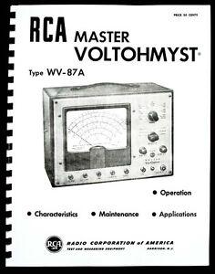 RCA Master VOLTOHMYST WV-87A  WV87A Manual