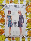 BUTTERICK 4304 sewing pattern CHECKED / COMPLETE 1960s vintage retro