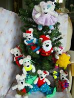 Bearly Christmas Time -Tree Trims/decorations/fillers  Soft Toy Knitting Pattern