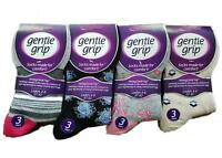 12 Pairs Ladies Sock Shop Gentle Grip loose top Non Elastic -  Mixed Designs