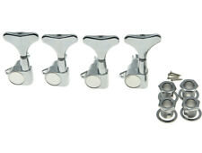 Chrome 4 Lefty Sealed Bass Tuners Tuning Keys Pegs 4 String Bass Machine Heads