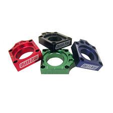 Outlaw Racing Axle Blocks Billet Aluminum Black KX250F KX450F KLX450R