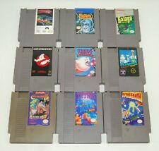 Nintendo NES Game LOT of 9: Galaga, Ghostbusters, Kirby's Adventure