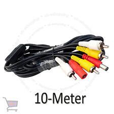 CCTV 10 Meter RCA Power Audio Video AV DVR System Camera Cable UKES