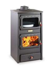 BONITO de leña estufa chimenea MACIZO combustible con horno hierro fundido TOP